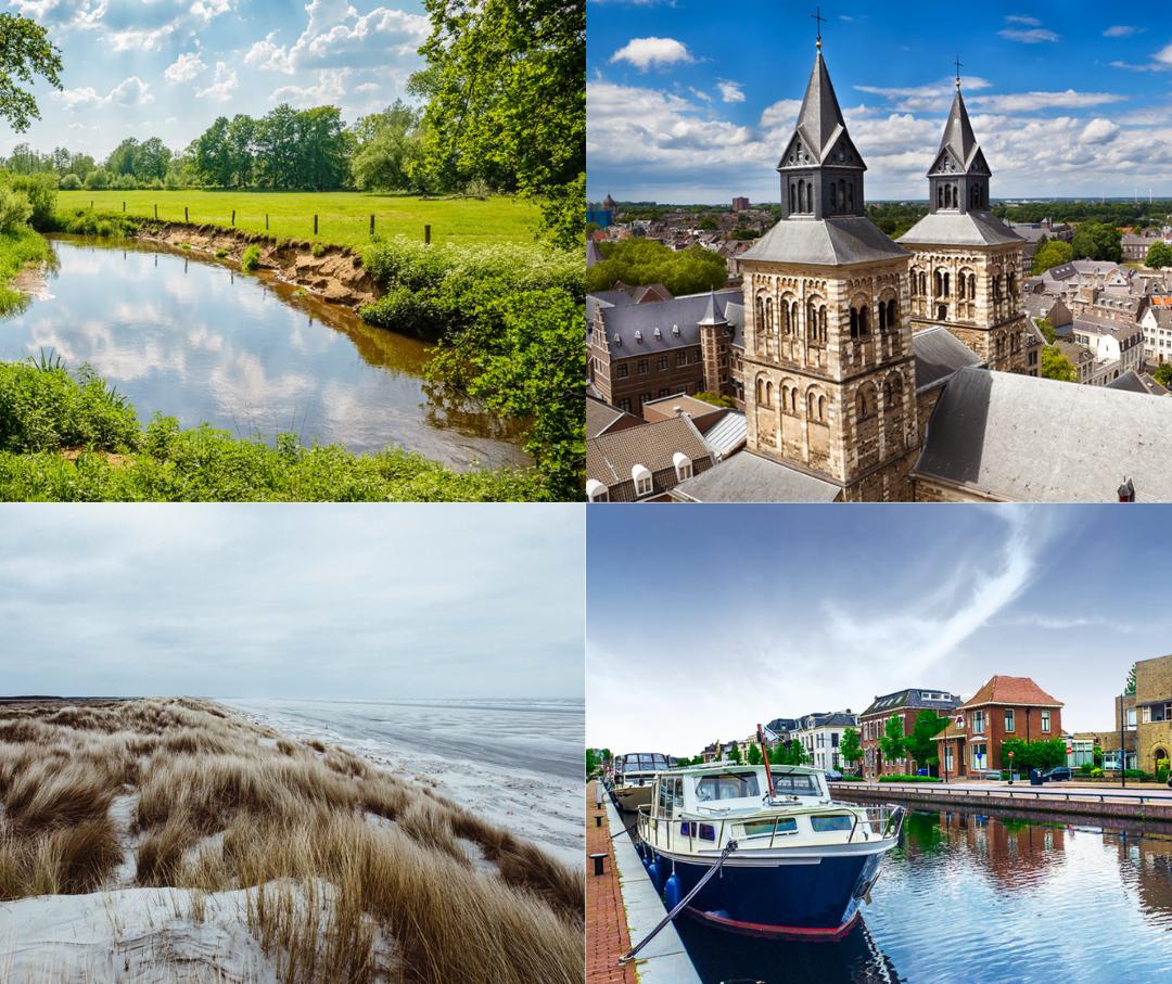 Zuid-Limburg, Twente, Drenthe en Friesland